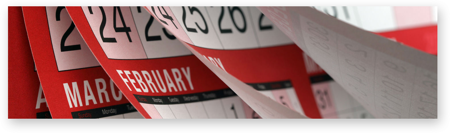 red and white calendar