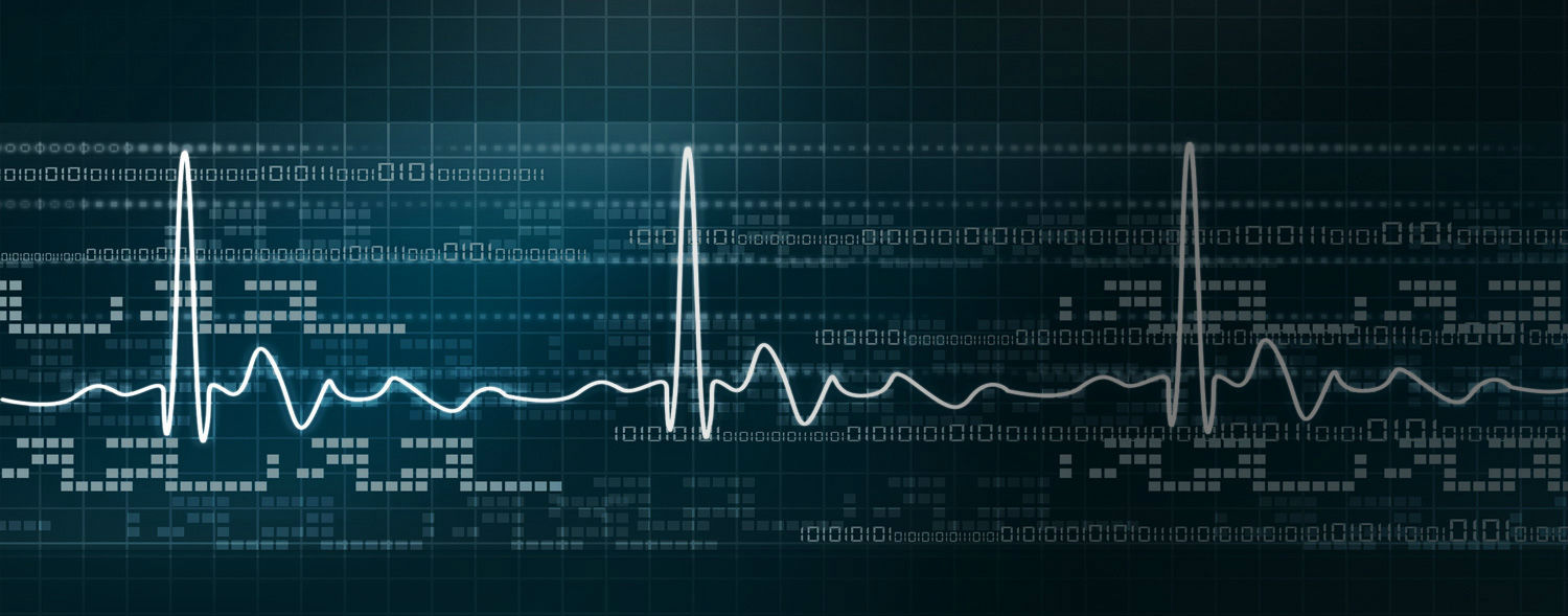 ekg and binary background